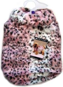 Small Pink and Black DeVille Dog Coat