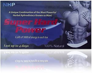 NHP - Super Hard Power 100% Natural - 6 Pills
