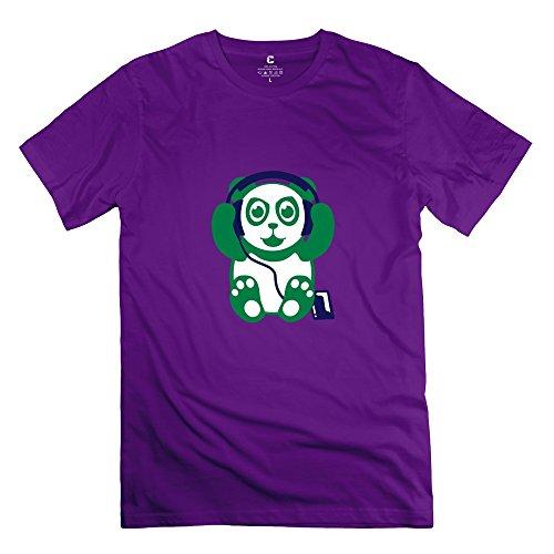 Panda Musik Vintage Man T Shirts