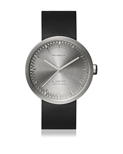 LEFF Amsterdam Reloj con movimiento Miyota Unisex Tube Watch D42 Acero / Negro 42 mm