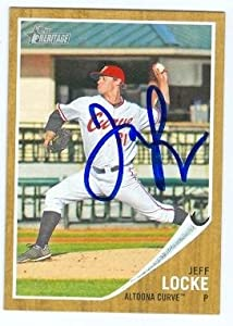 Jeff Locke Autographed Hand Signed baseball card (Pittsburgh Pirates Altoona Curve)... by Hall of Fame Memorabilia