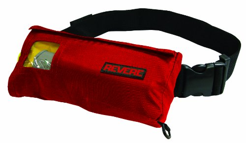 Revere Comfortmax Inflatable Belt Pack Manual Type III Personal Flotation Device  (Red, 30-52-Inch)