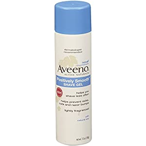 Aveeno Shave Gel with Natural Soy, 7 Ounce (Pack of 6)