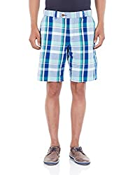 French Connection Men's Cotton Shorts (886928482629_59DAG_34_Aqua Sky)