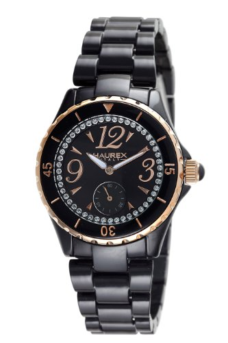 Haurex Italy Women's PN342DNH Make Up Black Dial Watch