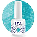 UV-Nails Soak-Off Gel Polish 0.5 OZ Glitter Color Catch Me if You Can #224 + Aviva Nail Buffer