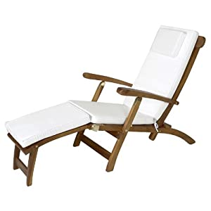 TEAK Outdoor Dining Chairs/Table Sets and Patio Furniture Steamer /w white cushion