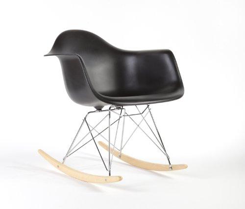 Charles Eames Style RAR Rocking Chair - Black