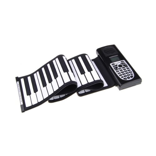 Bestdealusa 61 Standard Keys Roll Up Lcd Display Soft Midi Electronic Keyboard Piano