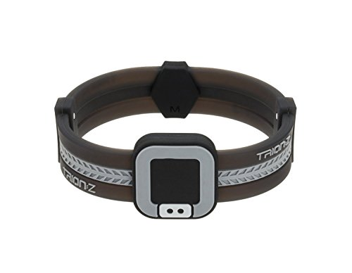 Trion:Z Acti-Loop Magnetic Therapy Bracelet Black and Grey - M