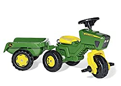 Rolly 052769 John Deere 3 Wheel Trac With Trailer Ride On