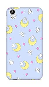 Amez designer printed 3d premium high quality back case cover for HTC Desire 626 G Plus (moon star )