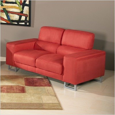 Buy Low Price Chintaly Imports Bayview Microfiber Loveseat (BAYVIEW-LVS)
