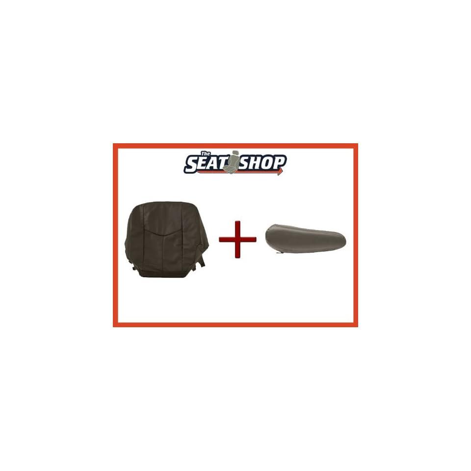 03 04 05 06 Chevy Silverado Very Dark Pewter Leather Seat Cover bottom & arm rest LH