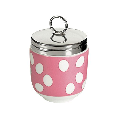 DRH Egg Coddler / Egg Poacher, Pink Spotty