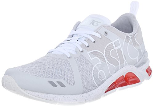 ASICS GEL Lyte One Eighty Retro Running Shoe, Soft Grey/White, 7.5 M US