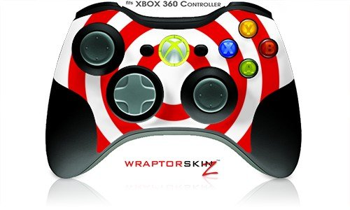 XBOX 360 Wireless Controller Decal Style Skin - Bullseye Red and White - CONTROLLER NOT INCLUDED (OEM Packaging)