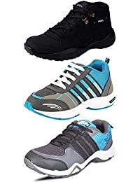 Chevit Men's Pack Of 3 Sports Shoes With Joggers Shoes And Running Shoes