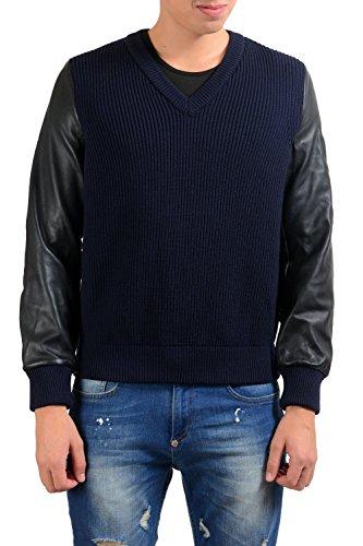 maison-martin-margiela-mens-100-wool-leather-v-neck-sweater-us-m-it-50