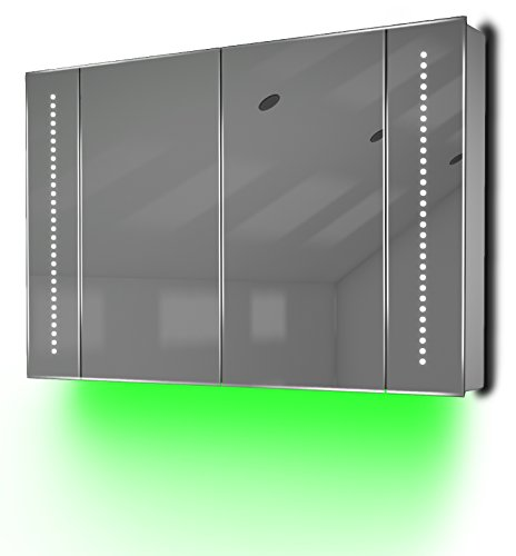 Ambient Audio Bathroom Cabinet With Bluetooth, Shaver Socket & Sensor K71Gaud