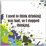 Paperproducts Design 20-Pack Stopped Thinking Paper Cocktail Napkins