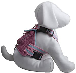 Pet Life DPF42004 Mesh Dog Harness Backpack with Pouch, Medium, Pink