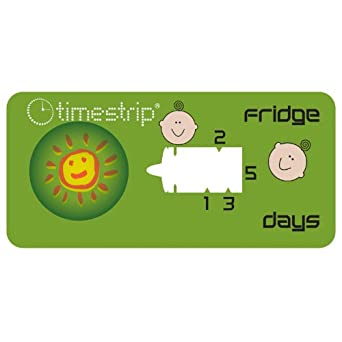 Timestrip 800-092 5 Day Fridge Baby Food Time Indicator, Blister on Top
