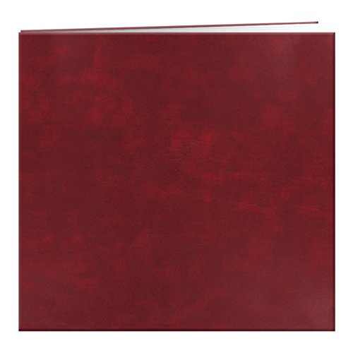 "Pioneer Leatherette Post Bound Album 12""X12""-Burgundy"