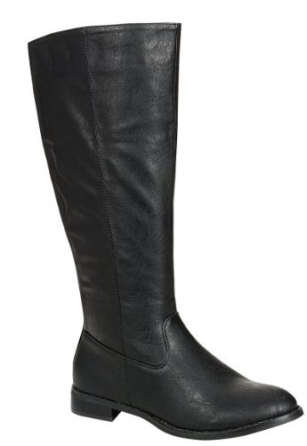 Reneeze Apple-02 Womens Fashion Knee-High Riding Boots - Black, Size 10
