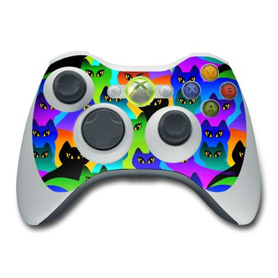 Rainbow Cats Design Skin Decal Sticker for the Xbox 360 Controller