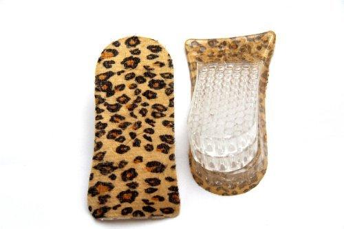 FreshGadgetz 1 Paio di Solette per il tallone in gel silicone a 3 strati (Leopard) - Solette Scarpe Per Altezza - Solette Per Scarpe Con Tacco