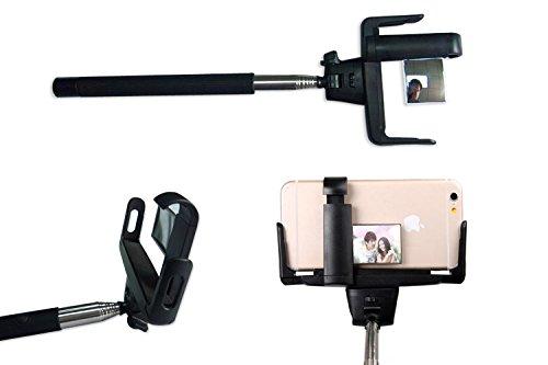 konsait selfie stick pole with extendable wireless remote mirror rear camera bluetooth monopod. Black Bedroom Furniture Sets. Home Design Ideas