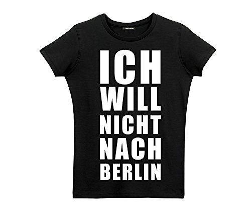 dresscode -  T-shirt - Basic - Collo a U  - Uomo Damen schwarz M