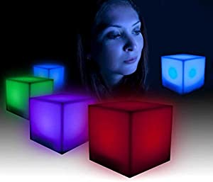 2X Colour Changing LED Mood Cube Single Night Lamp Glow Gift Novelty Gadget from The Source