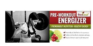 Red Leaf Pre-Workout Energizer - #1 Best Tasting Workout Supplement with Beta-Alanine, BCAAs, Glutamine, AAKG, Green Tea, Raspberry Ketones - Natural Cranberry Lime Flavor - 30 Servings