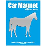 Horse Car Magnet Chrome