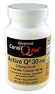 Qnol Bio-Enhanced Ubiquinol CoQ10 with 440 mg L-Carnitine Fumarate (60 count bottle)