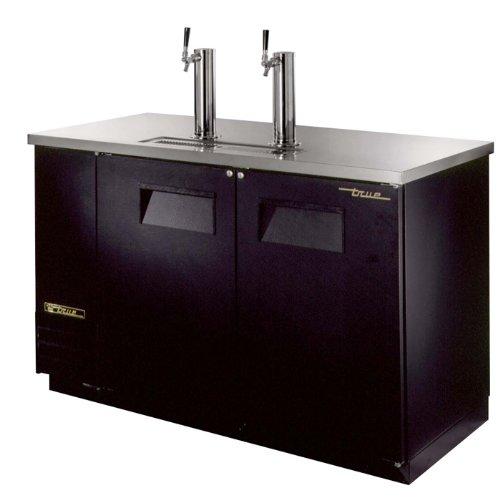 True Tdd-2 Black Vinyl Direct Draw Keg Cooler | 2 Keg Capacity