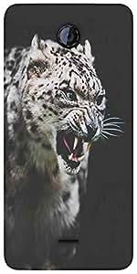 Snoogg Leopard Fury Designer Protective Back Case Cover For Micromax Unite 2 ...