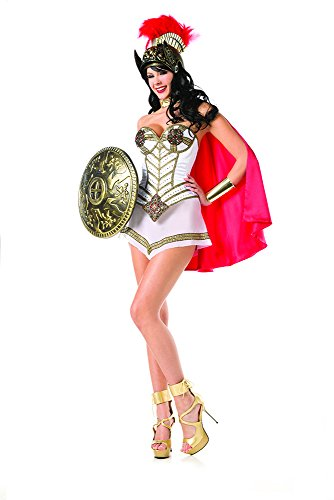 Queen Of Warriors Sexy Roman Soldier Costume - SMALL/MEDIUM