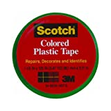 "3M Scotch 191 Colored Plastic Tape, 125"" Length x 1-1/2"" Width, Blue"