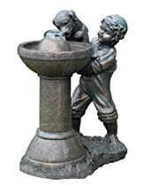 Big Sale Beckett Fountains 7202210 Boy with Dog At Fountain