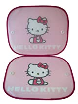 Sanrio Hello Kitty Car Window Visors with Suction Cups (Set of 2) - Hello Kitty Car Shade (Side Window)