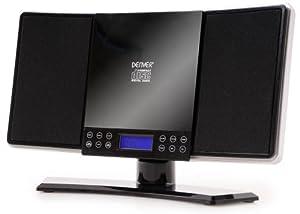 Denver MC-5200 Mini impianto stereo Hi Fi sveglia integrata (lettore CD, ingresso AUX, tuner FM) nero