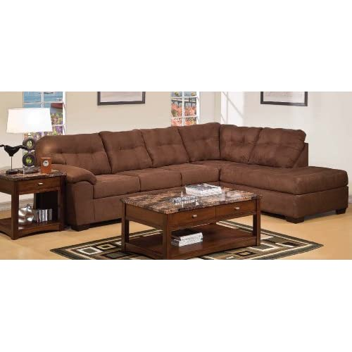 Amazon.com - Simmons Sectional Espresso Microfiber Teflon Treated