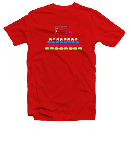 Space Invaders Classroom Geek Retro T-Shirt in 12 Colours