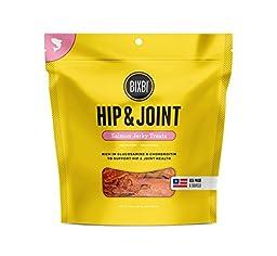 BIXBI Hip & Joint Dog Jerky Treats, Salmon, 15 Ounce