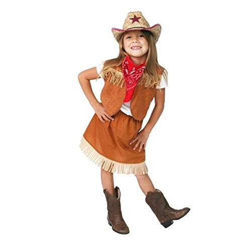 Cowgirl dressup birthday halloween costume set size 2/4