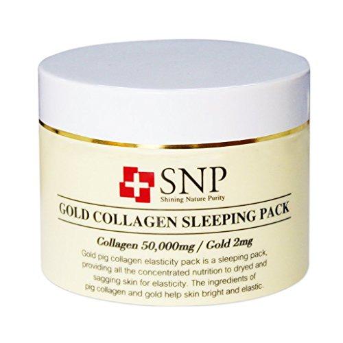 SNP Gold Collagen Sleeping Confezione Creme umidità la notte, viso cura della pelle