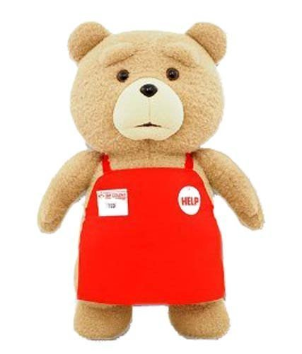 Ted Ted I'm BIG fluffy aprons plush oversized 48 cm